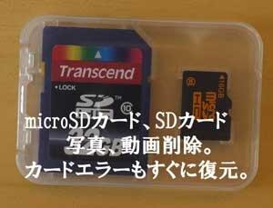 写真、動画、SDカード復元